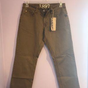 Men's 29x30 army green/brown pants 1897 brand
